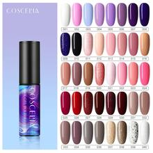 COSCELIA Nail Gel Polish 40 Colors 5ML Bright Color Glitter Nail Polish Long Lasting Soak Off UV LED