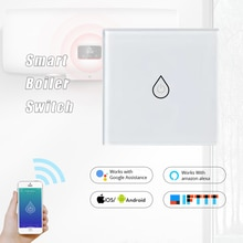 Wifi Boiler Smart Switch Water Heater Switches Voice Remote Control US standard Touch Panel Timer Ou