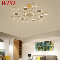 wpd nordic pendant lights gold contemporary led lamp creative decoration fixture for home living room