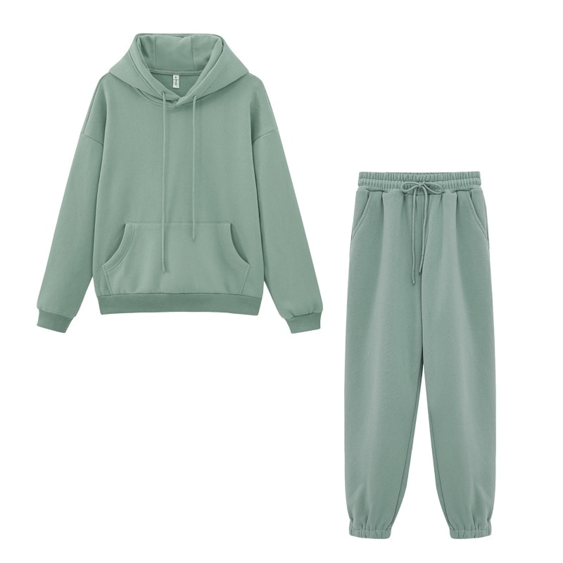 Toppies frauen Trainingsanzüge Sport Hosen Anzug Beiläufige Hoodies Fleece-Sweatshirt Weibliche Jacke Jogginghose Harajuku Kleidung