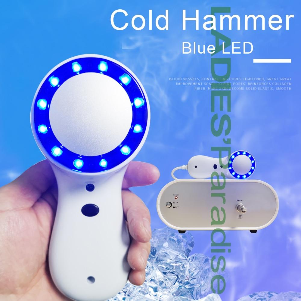 أدوات العلاج بالتبريد ، مطرقة العلاج البارد ، الجليد ، شد الجلد ، تقليل المسام ، مكافحة الشيخوخة ، الضوء الأزرق ، علاج الوجه