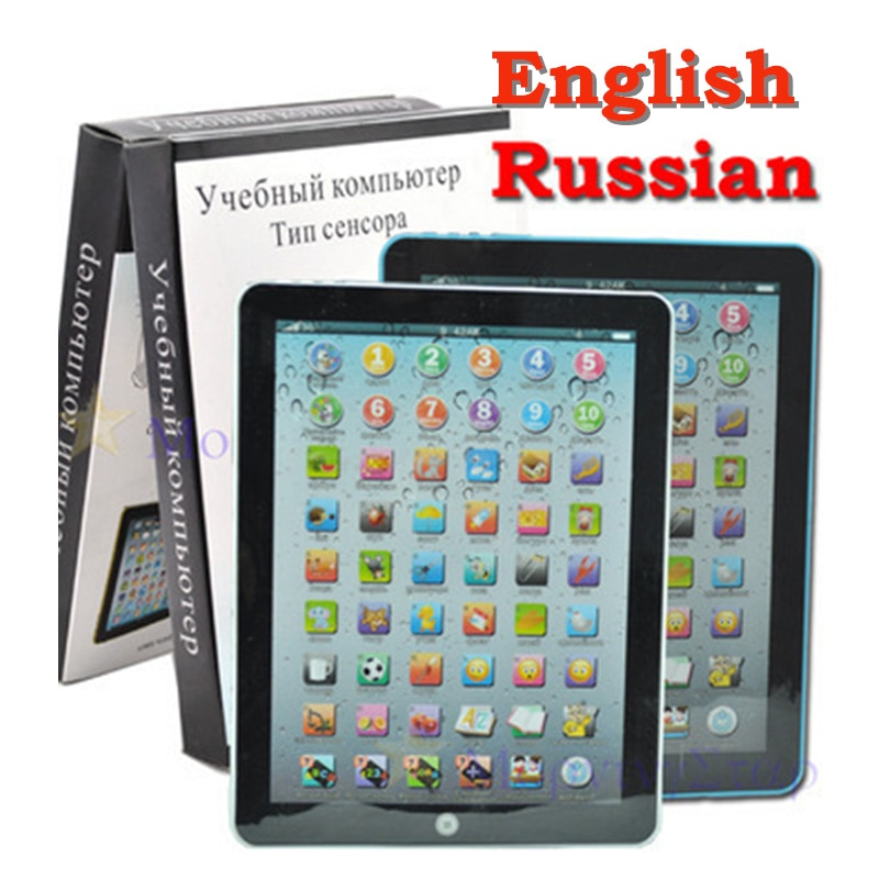 English Russian Learning Machine Alphabet Baby Tablet Educational Toys For Children Electronic Touch Tablet Computer Kids Toy