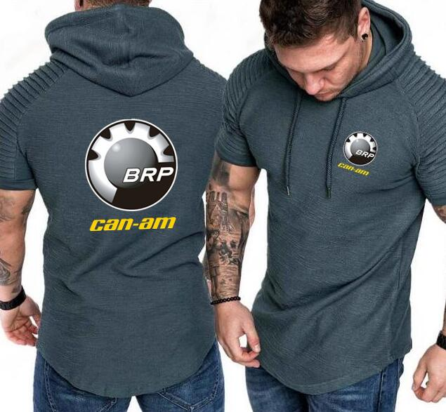 BRP Can-am remera con capucha de mangas cortas hombres Casual delgada Sudadera con capucha chándal de hip hop Hoody Motorsport Shifter M Power con capucha camisa de verano