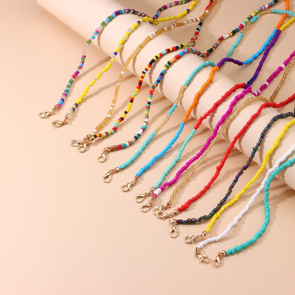 2021 Multicolor Beads Face Mask Chain Holder Women Sunglasses Eyeglasses Lanyards Hanging Neck Strap