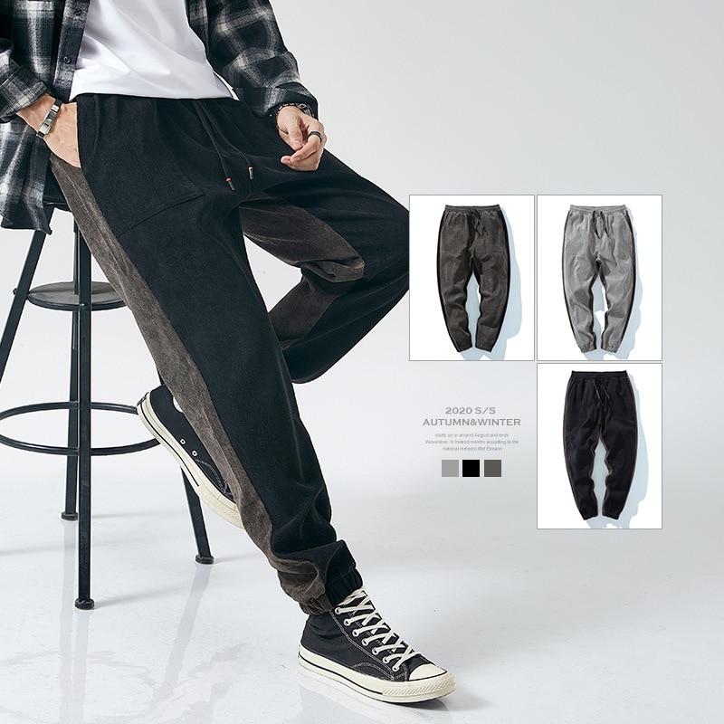 2021 جديد الكورية نمط من ماركة العصرية INS بسيطة الرجال سروال قصير غير رسمي فضفاض كبير الحجم البرية الرجال جينز غير رسمي السراويل