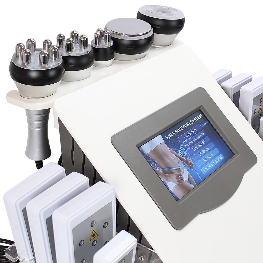 CE 6 في 1 40K تدليك الجسم بالموجات فوق الصوتية تشكيل آلة شفط الدهون