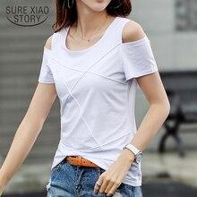 Nouveau Camiseta Mujer coton été hauts 2020 manches courtes solide femmes Blouse décontracté Slim Fit femmes chemises femmes vêtements 8606 50
