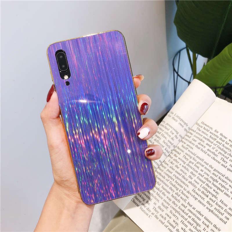 Shinning Caso Brilho Para Samsung Galaxy tampa do caso A10 A50 A20 A30 A70 A10S A20S S9 S8 S10 A7 A9 A6 A8 J4 J6 Plus 2018 Nota 10