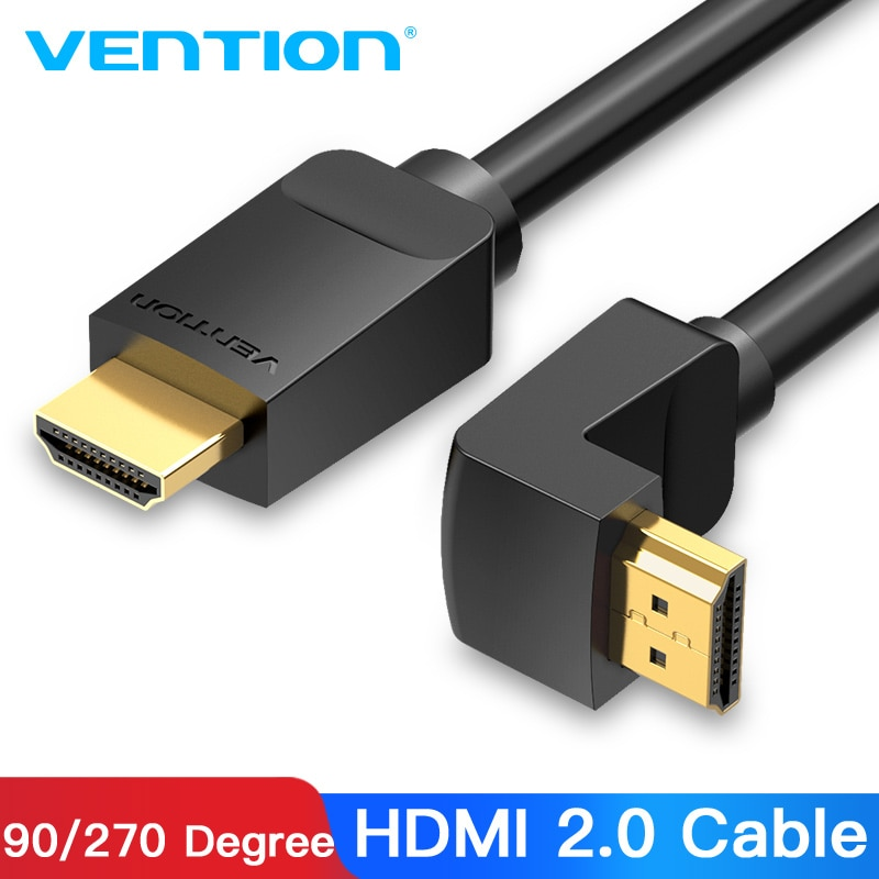 Кабель Vention HDMI 4K HDMI 2,0 кабель HDMI 90/270 градусов угловой адаптер для Apple tv PS4 сплиттер видео аудио кабель 90 градусов HDMI
