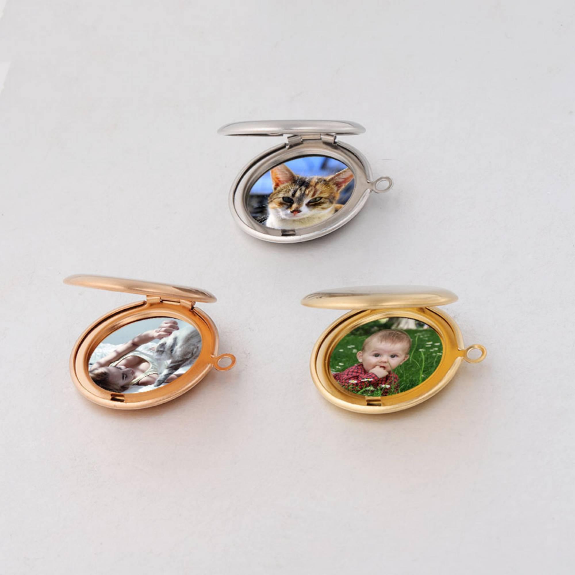 Индивидуальное ожерелье, свадебный подарок для пары, индивидуальный цвет, фото, круглые ожерелья с кулоном из нержавеющей стали, очаровател...