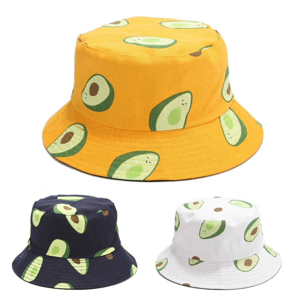 Gorra de pescador con estampado de aguacate, visera plegable de doble cara para verano, gorra de pesca, venta al por mayor