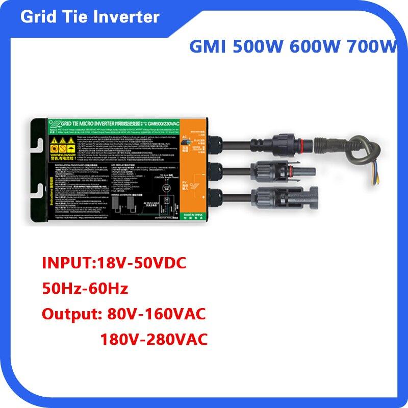 500 واط 600 واط 700 واط مايكرو الشمسية العاكس MPPT الشمسية شبكة التعادل DC18V-50V إلى التيار المتناوب 110 فولت-230 فولت 50 هرتز/60 هرتز الشمسية PV العاكس IP65