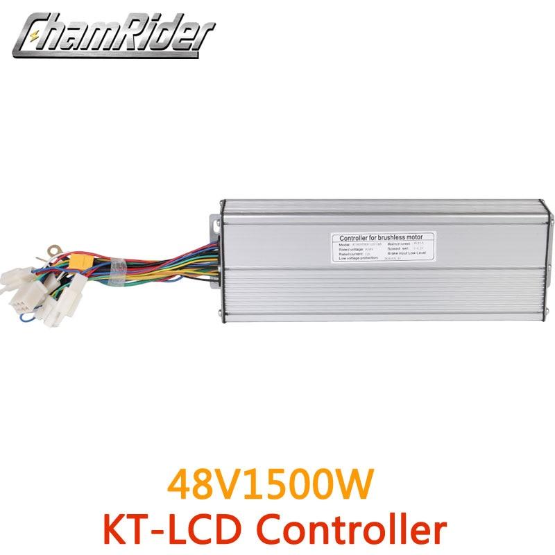 Ebike 48V 1500W 45A bicicleta eléctrica controlador sin escobillas senowave Hall Sensor KT serie soporte LED pantalla LCD