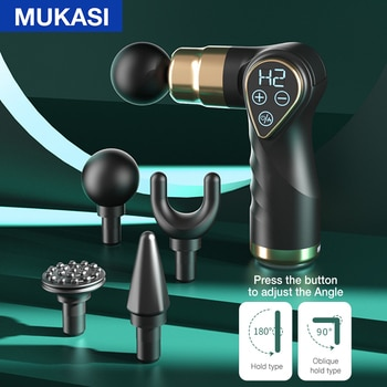 MUKASI Folding Hot Compress Massage Gun LCD Display Muscle Neck Electric Massager for Body Relaxation Pain Relief Pain Therapy