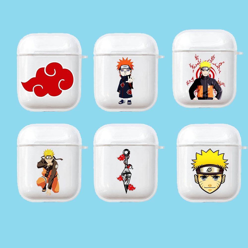 Funda de silicona blanda para auriculares Aipods 1 y 2, de Naruto Sasuke Kakash, funda de Airpods caja