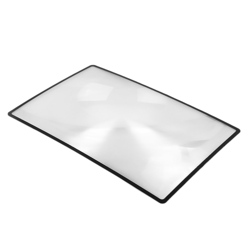3x large reading magnifier full page sheet magnifying glass book reading lens page reading glass lens magnification 3X Top Quality Convinient PVC Magnifier Sheet 180X120mm Book Page Magnifying Book Page Reading Glass Lens Magnification