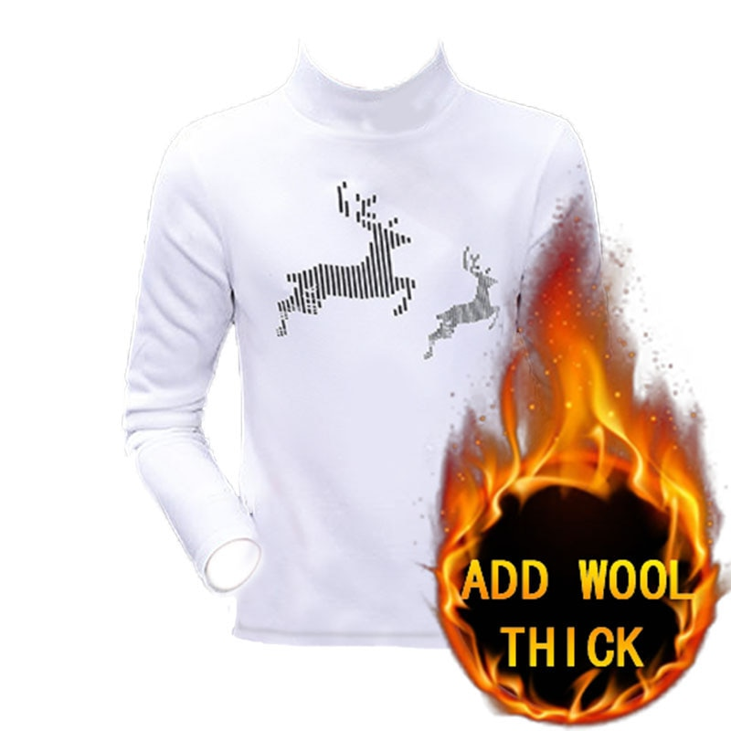 New Autumn Winter Men Sweatshirt Pullover Warmth Solid Color Stripe Printed elk Decoration Design Suitable for Running Walking