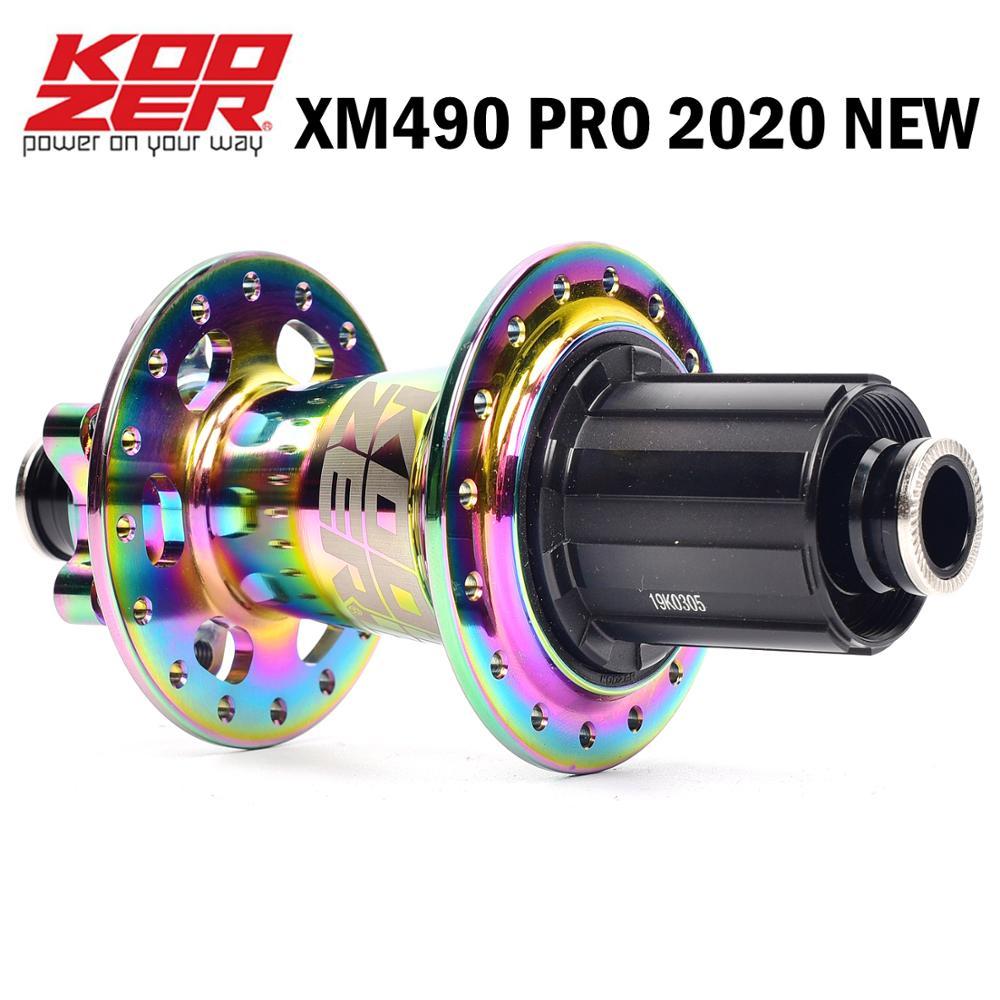 KOOZER XM490 PRO disco de tarjeta de freno MTB bicicleta de montaña hub 4 rodamientos de bicicleta 32 agujeros soporte 8/9/10/11 velocidad trasero o delantero hub