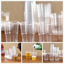 Taza de degustación de plástico para pícnic al aire libre, vaso desechable de plástico, producción de material PP, transparente, 8oz, 25/50 Uds.