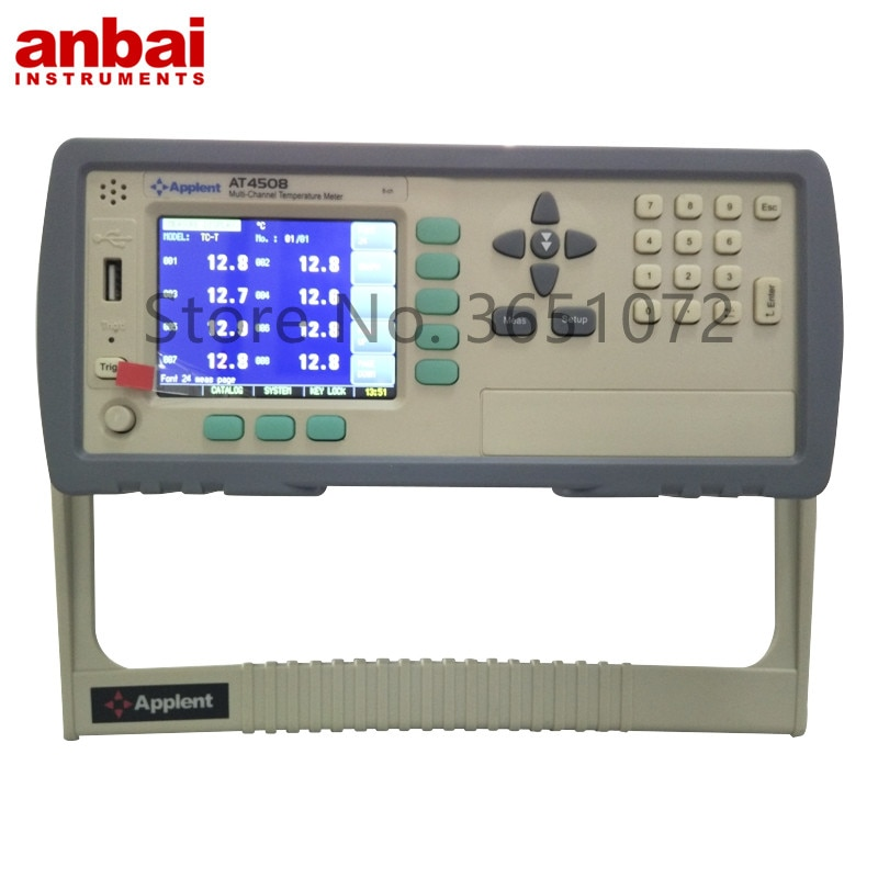 AT4508 medidor de temperatura multicanal para horno, 8 canales