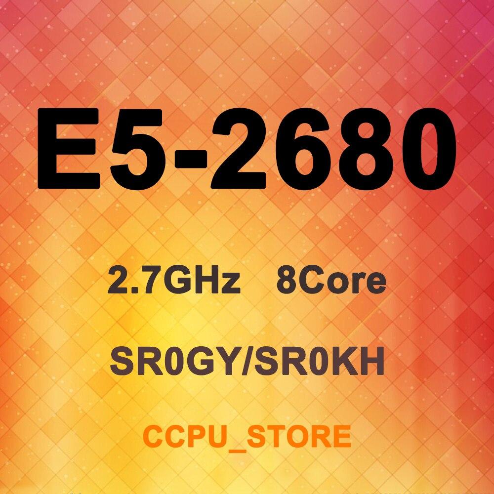 Intel Xeon E5-2680 SR0GY 8 SR0KH 2.7GHz Core Fio 16 20MB 130W LGA2011 X79 Processador CPU