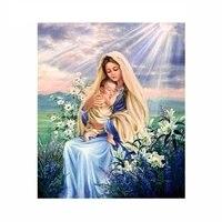 diamond embroidery 5d diy full diamond painting virgin mary religious diamond painting rhinestone cross stitch decoration
