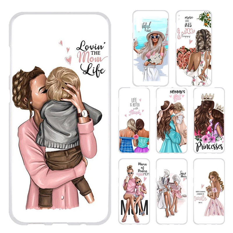 Funda de teléfono para umideli F1 UMI Deli F1 F2 fundas de pelo marrón negro bebé niña reina cliente umideli A7 A3 Pro A3S A3X
