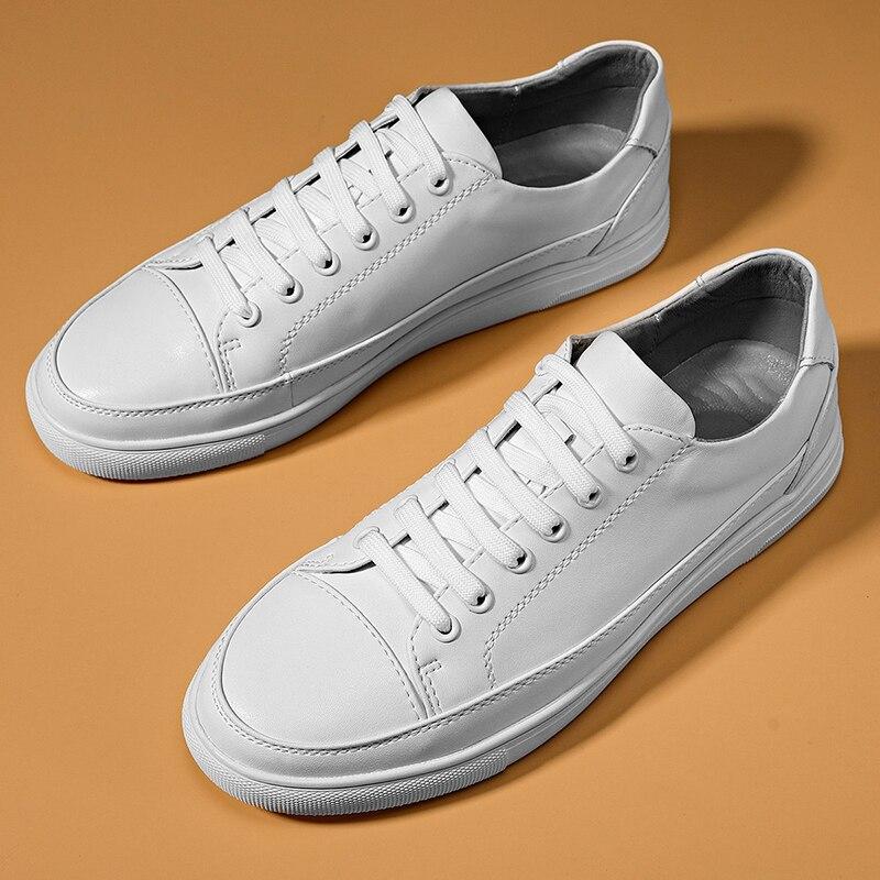 جديد وصول رجالي الاحذية الأبيض أحذية من الجلد للرجال نوعية جيدة الرجال العلامة التجارية الأحذية مصمم أحذية مشي للرجل