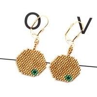 fairywoo golden apple earrings evil eye jewelry earring earrings for girls luxury gifts for lover handemade earrings from janpan