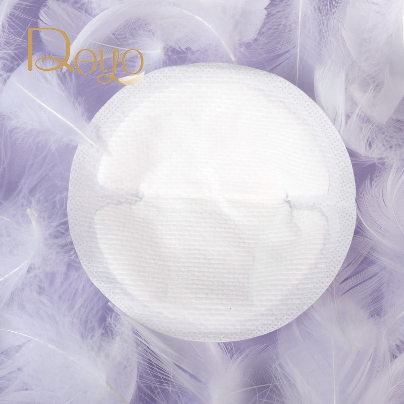 Deyo Maternity Disposable Breast Pad 0.12cm Ultra-thin Breathable Pure Cotton Breast-feeding Anti-overflow Nursing Pads 450pcs enlarge