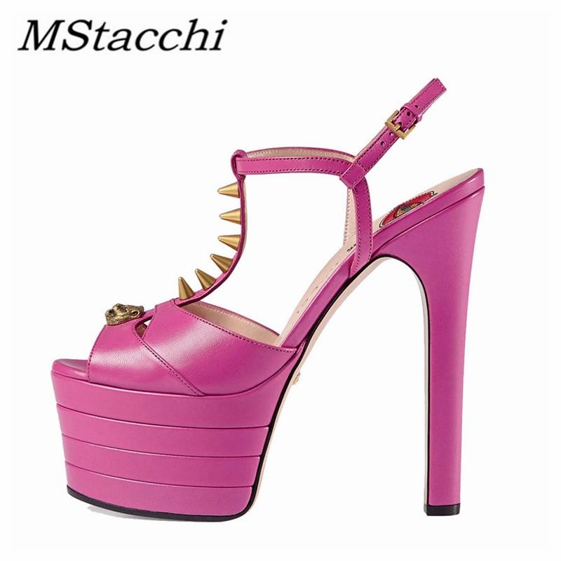 Mstafchi المرأة أحذية الكعوب رقيقة مختلط الألوان اللمحة تو أحذية برشام الضحلة اعوج امرأة مضخة صنادل أرضية 2021