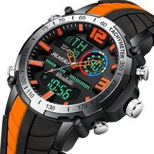 2021 New Men Watch Top Brand Luxury Fashion Dual Display Wristwatch Analog Digital Sports Waterproof