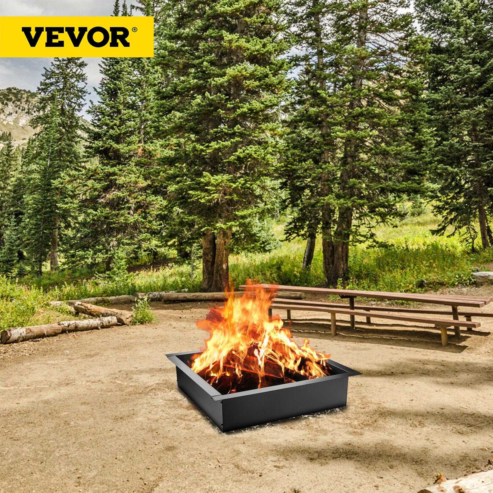 VEVOR 30/36 بوصة حفرة معدنية للحريق حلقة الثقيلة الصلب مع ملقط سهلة لتجميع دائم قوي لتسخين الشواء ساحة في الهواء الطلق