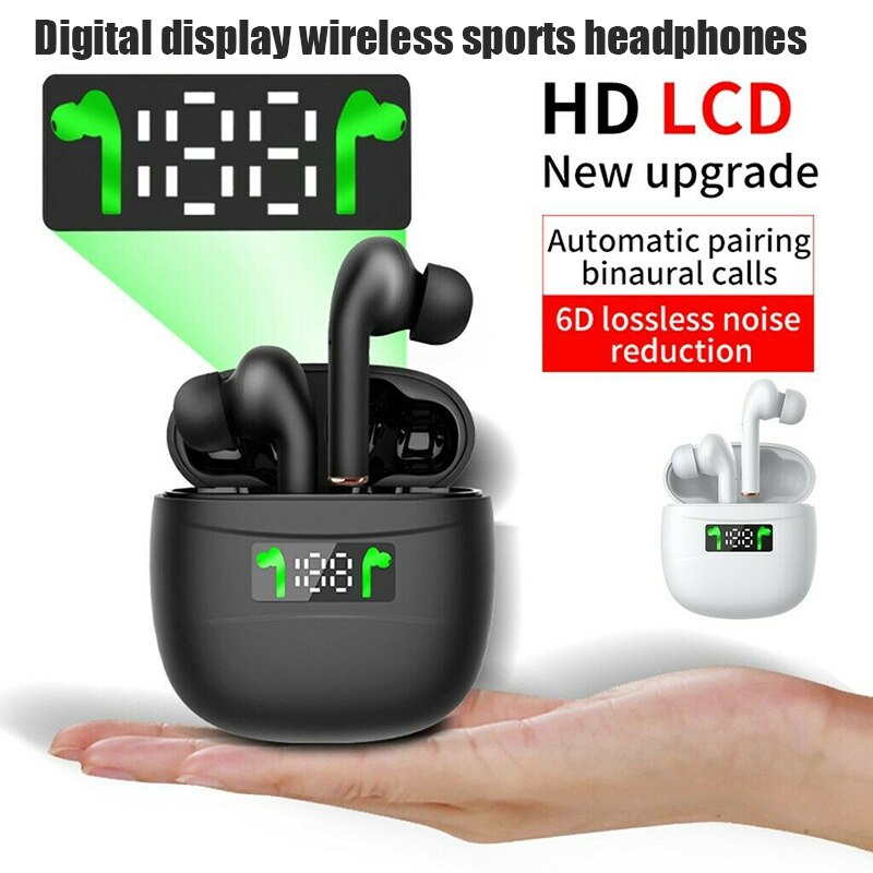 J3 Pro Wireless Headset Bluetooth 5.2 True Wireless Earplug LED Battery Display TWS Stere Fitness Running Sports
