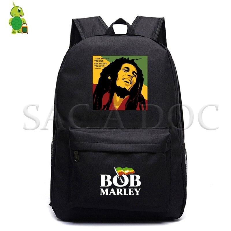 Mochila Bob Marley Legend para adolescentes, mochilas escolares de lona para hombres y mujeres, mochila para portátil, bolsas de libros para niños, mochila de viaje informal de moda