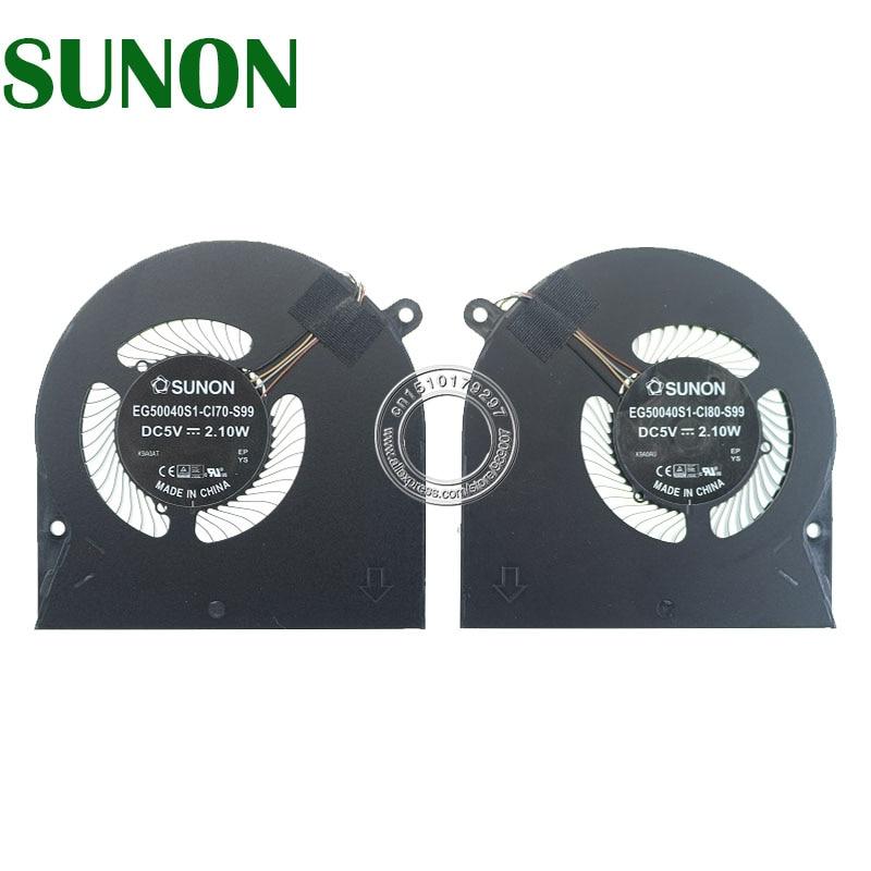 Laptop CPU Fan EG50040S1-CI70-S99 EG50040S1-CI80-S99 DC5V 2.10W 4PIN ل Razer Blade الشبح 13 QUATT2 RZ09-0281