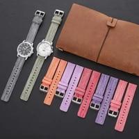 20mm 22mm watchband nylon sweatproof durable braided brand watch strap for samsunghuami smart watch accessories nato bracelet
