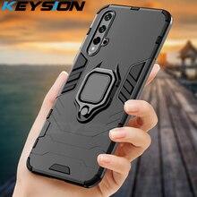 KEYSION Shockproof Armor Case Voor Huawei Mate 30 20 Pro P30 P20 lite P Smart Y5 Y6 Y7 Y9 2019 telefoon Cover voor Honor 20 Pro 10i 10 lite 8a 8X 9X