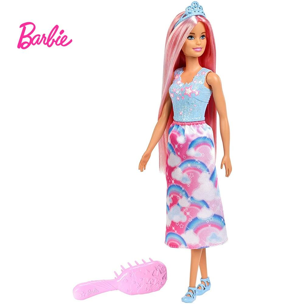 Muñeca de princesa de arcoíris para niños, muñeca de Rapunzel con pelo...