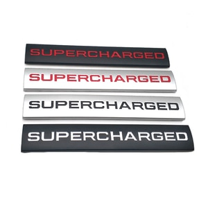 20 Pcs Car Styling SUPERCHARGED Side Wing Trunk Auto Badge Sport Emblem Sticker Decal