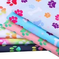 printed textile crafts polyester fabric footprints christmas celebration cloth 50 140cmpiece sewing clothes tablecloth quilt