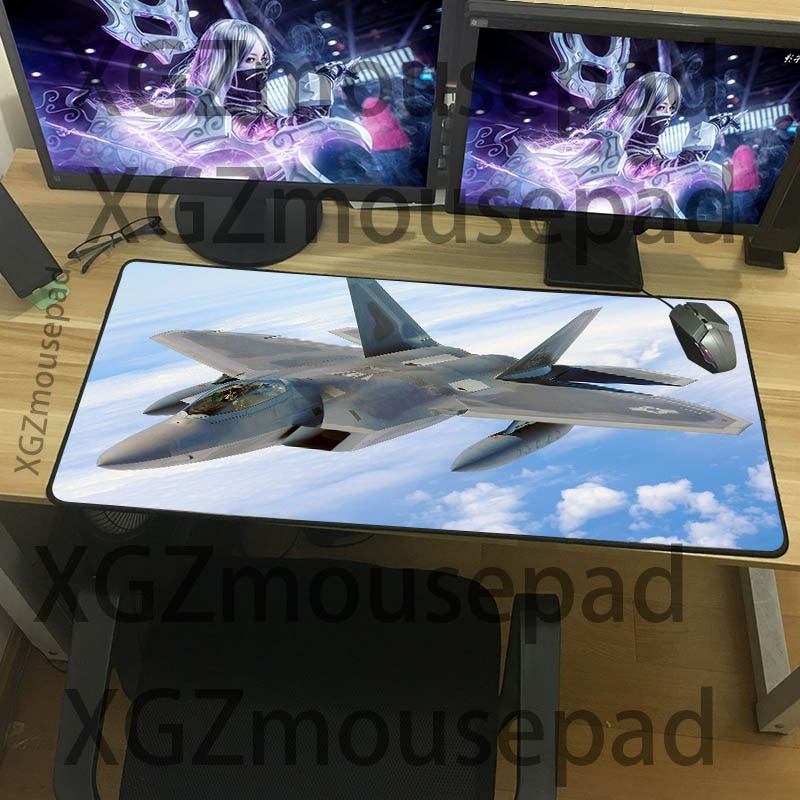 XGZ Large size combat aircraft mouse pad F22 cool pattern table mat military series computer game office essential keyboard pad
