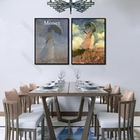 impressionist canvas poster print artist monet oil paintings pretty women holding umbrella for home room gallery wall decoration