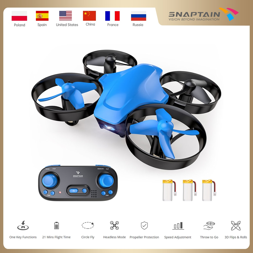 SNAPTAIN SPC50MQ Mini Drone Portable Circle Flying 3D Flip fpv dron Altitude Hold Dron Christmas Gift Toy for Kids RC dron
