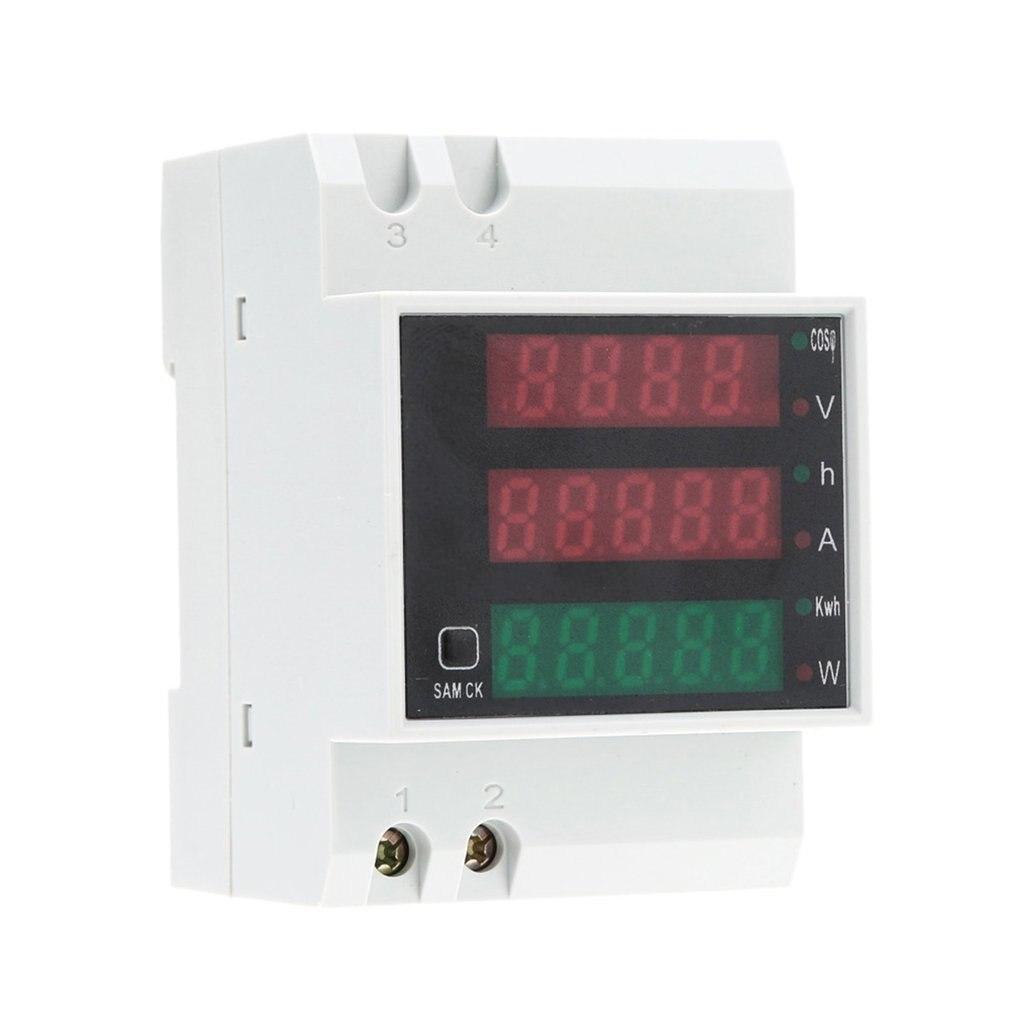 D52-2047 Led измеритель мощности AC 300V 100A амперметр вольтметр Вольт амперы активный фактор мощности время энергии напряжения тока