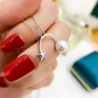 1pcs s925 sterling silver pearl tray charm connector bail pendant clasp diy necklace jewelry making accessories