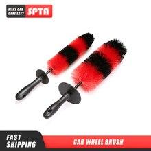 Щетка для колес SPTA, средство для чистки колес, 18 дюймов, красная и черная, в форме ракеты
