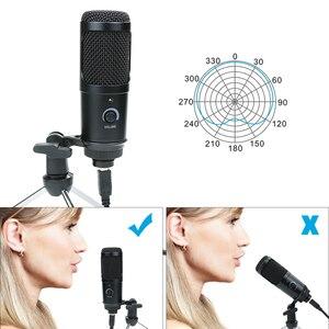Image 5 - Профессиональный конденсаторный кардиоидный USB микрофон, Студийный микрофон для записи и пения на компьютере и ноутбуке, для потокового воспроизведения игр