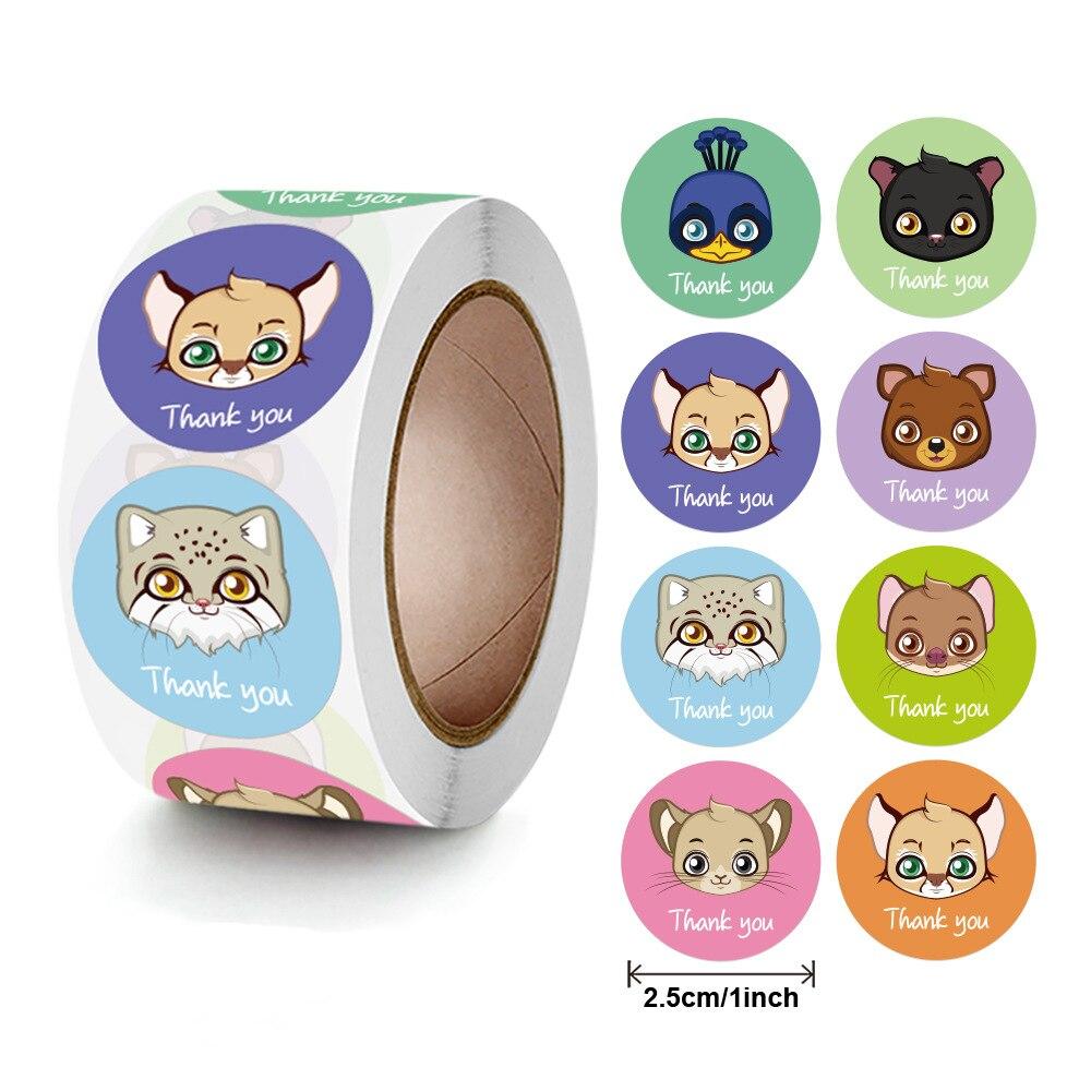 50-500-uds-animal-gracias-sello-de-pegatinas-etiquetas-8-pegatina-bonita-de-dibujos-animados-para-bricolaje-scrapbooking-papeleria-chica-o-chico-regalos-de-los-ninos