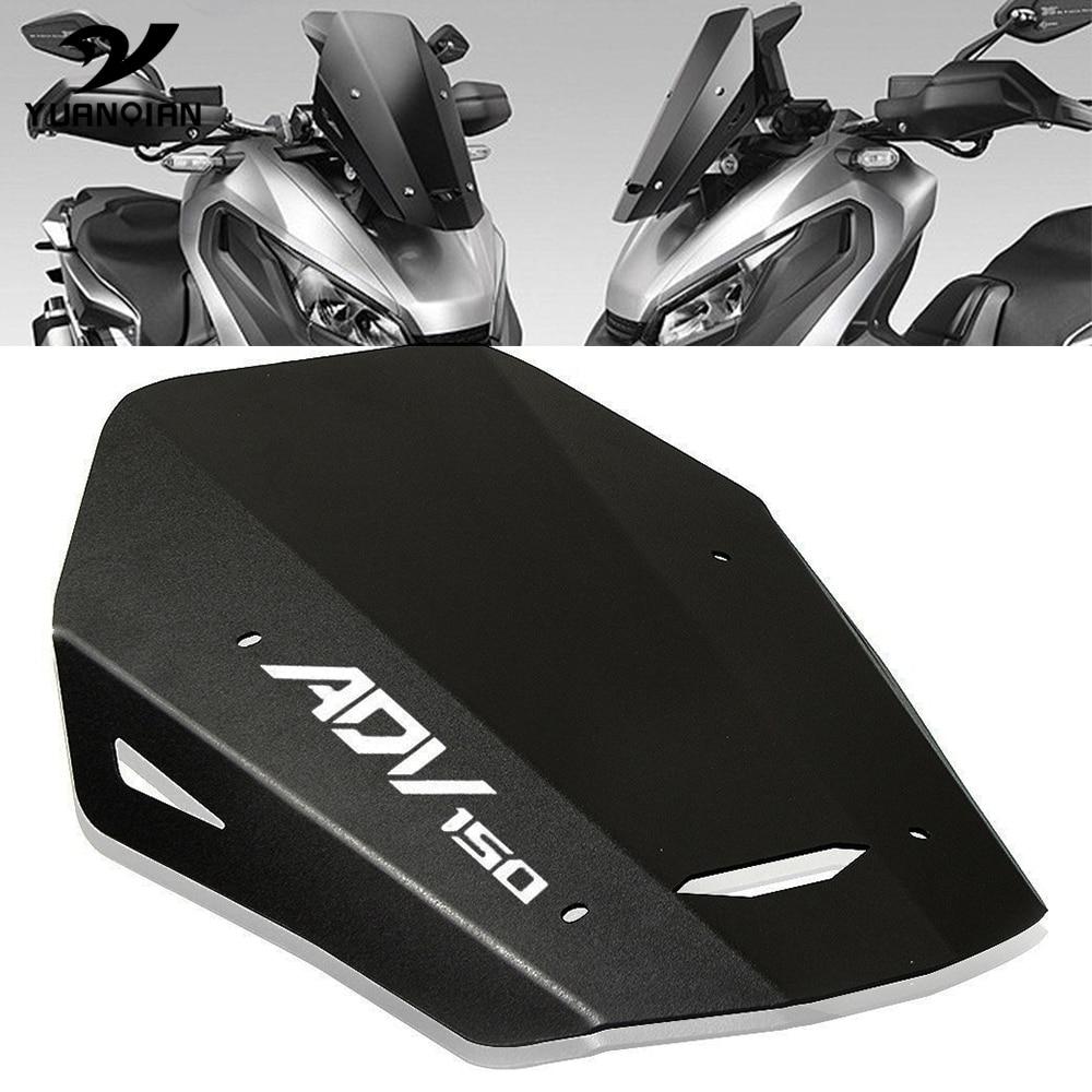 Nueva motocicleta Accesorios de aluminio CNC parabrisas pantalla deflector de viento escudo para la honda ADV150 ADV 150 2019 2020